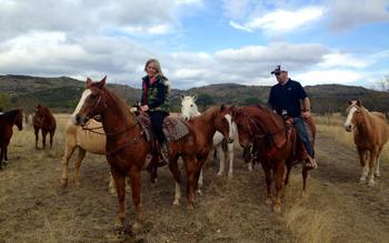 Horseback riding at Neal's Lodges.