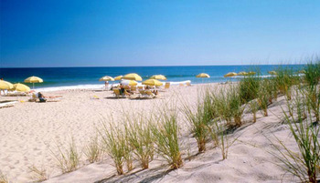 The beach at Beachcomber Resort at Montauk.
