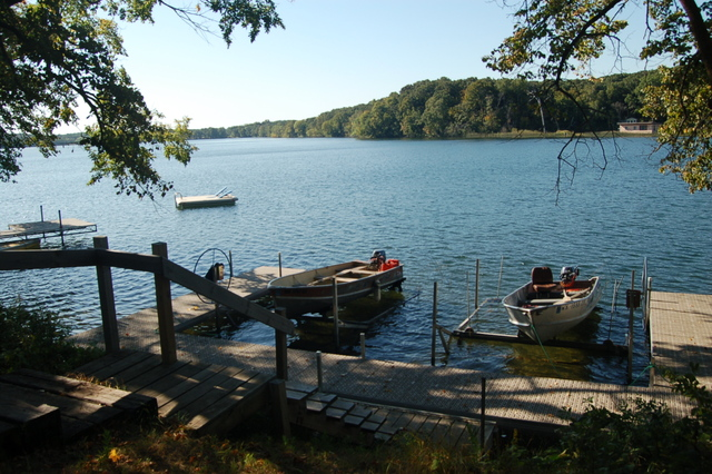 Fishing dock at Xanadu Island Bed & Breakfast and Resort.