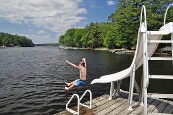 Swimming at Patterson Kaye Resort.