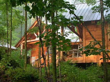 One of the twenty rustic cabins at Common Ground Center.