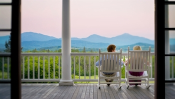 Couple enjoying the view at Mountain View Grand Resort.