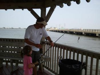 Fishing at Oasis Suites.