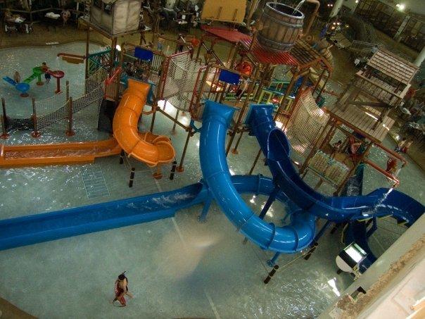 Indoor water park at Radisson Waterpark of America.