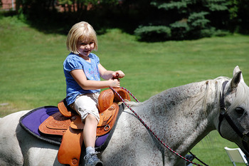 Kid On Horse at Fair Hills Resort