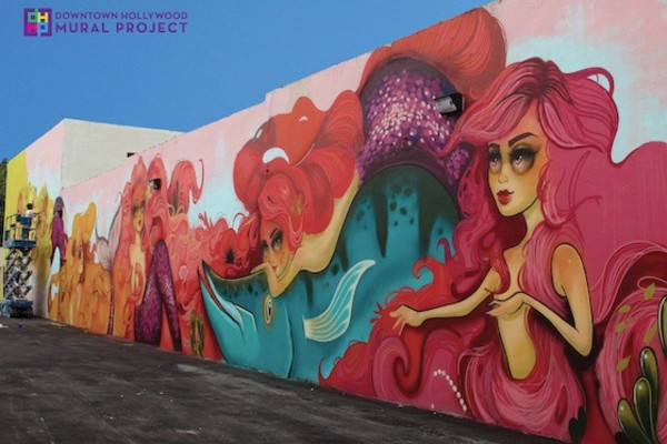 Southeast florida resorts and lodges for Downtown hollywood mural project