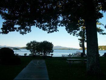 Shuffle board at Misty Harbor.