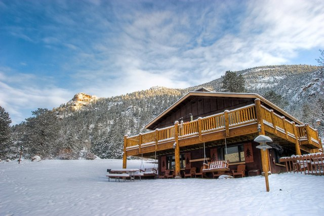 Exterior view of McGregor Mountain Lodge.
