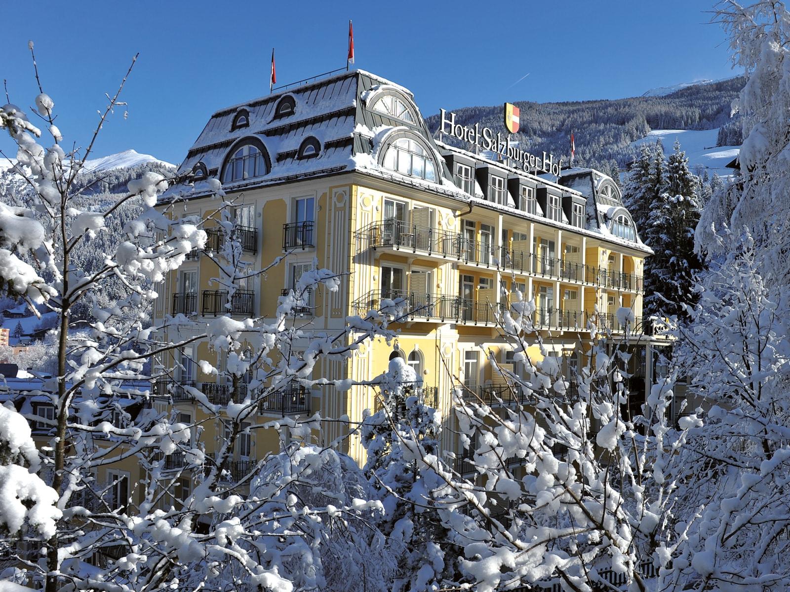 Exterior view of Hotel Salzburger Hof.