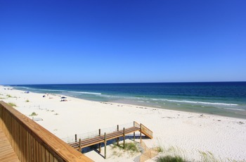 Rental beach view at Fort Morgan Realty.