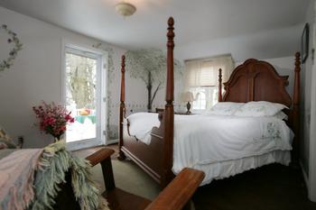 Serenity Garden bedroom at HideAway Country Inn.