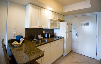 Suite Kitchen at Best Western Beach Resort Hotel