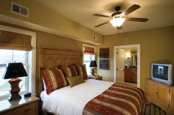 Guest room at RiverStone Resort.
