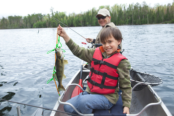 Fishing at Hidden Haven Resort and Campground.