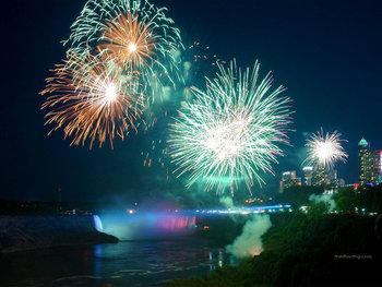 Fireworks over Niagara Falls at Cairn Croft Best Western Plus Hotel.