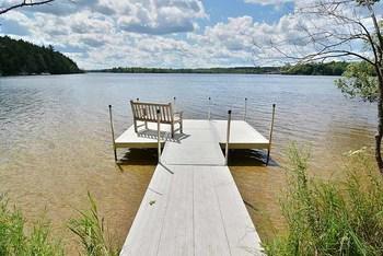 Dock view at North Country Vacation Rentals.