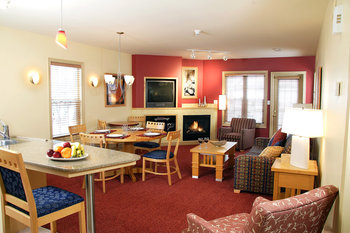 Guest living room at Carriage Ridge Resort at Horseshoe Valley.