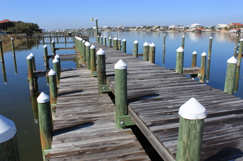 Fishing docks at Luxury Coastal Vacations.