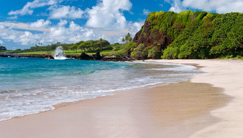 The beach at Travaasa Hana.
