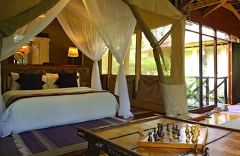 Exterior view of Sarova Mara Camp.