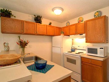 Vacation rental kitchen at Hale Kamaole Condos.