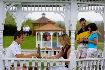 Gazebo dining at La Tourelle Resort & Spa.