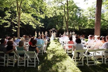 Wedding ceremony at Creekside Resort.