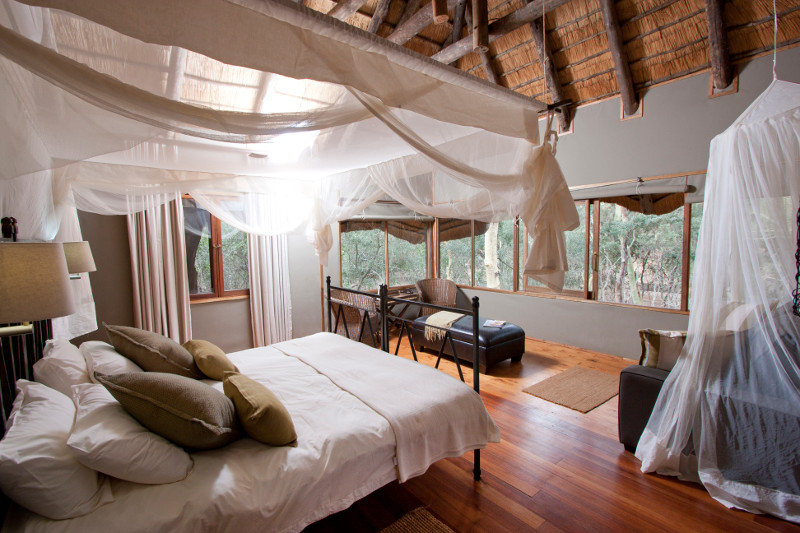 Guest room at Zululand Tree Lodge.