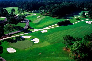 Aerial Golf Course View at Callaway Gardens