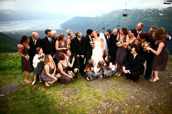 Wedding group at Alyeska Resort.