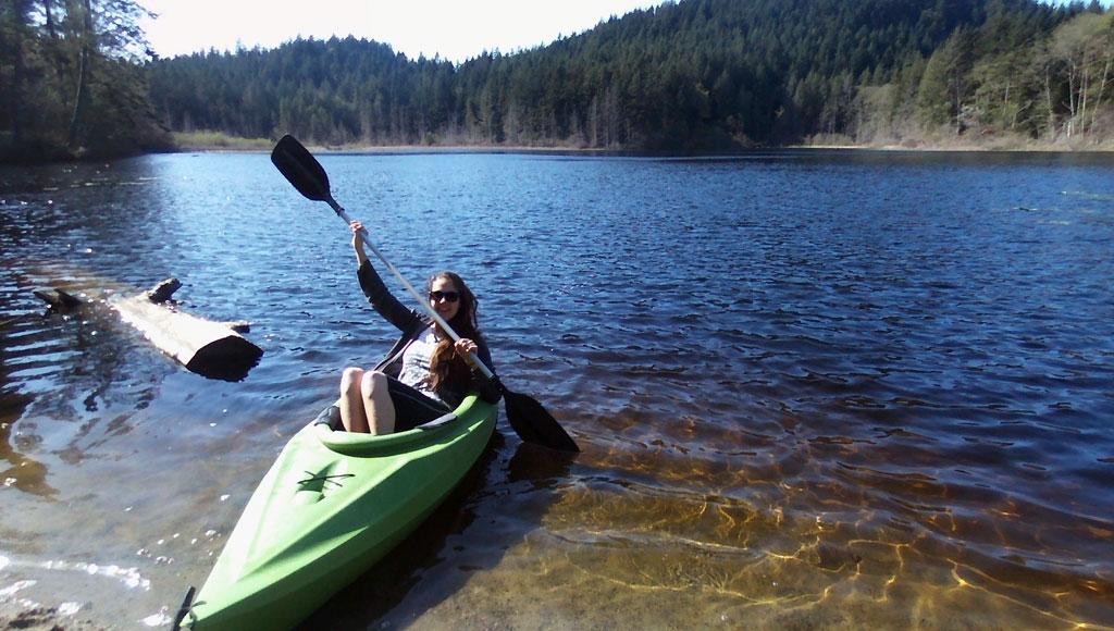 Kayaking at Boardwalk on the Water.