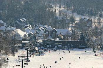 Skiing at Crystal Mountain Resort and Spa.
