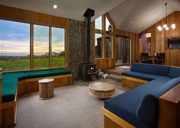 Rental living room at Sea Ranch Lodge Vacation Rentals.