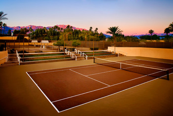 Tennis court at The Westin Mission Hills Resort & Spa.