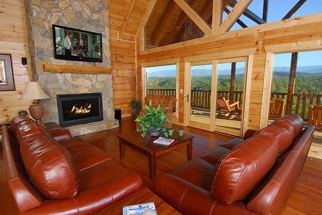 Pigeon forge vacation rentals cabin 7 bedroom 7 bath for Timber tops cabins gatlinburg