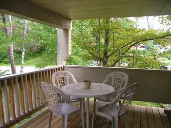 Deck view at Mountainside Resort.