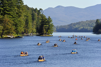 Explore the waters when you stay at Lake Placid Vacation Homes.