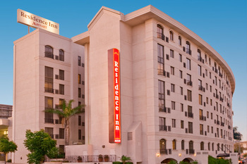 Exterior view of Renaissance Beverly HIlls Hotel.