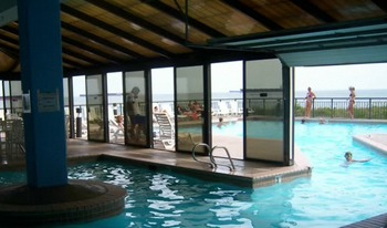 Indoor and Outdoor Pool at Virginia Beach Resort Hotel