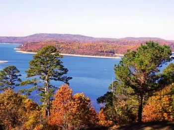 Lake view at Pointe West Resort & Suites.
