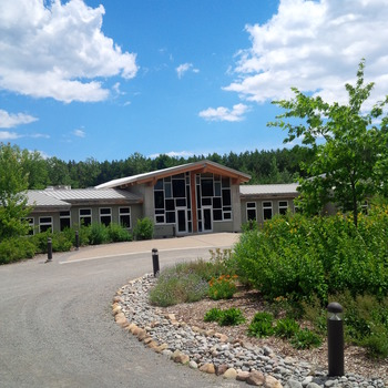 Exterior view of Ganaraska Forest Centre.