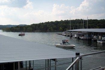 View of lake at Golden Arrow Resort.