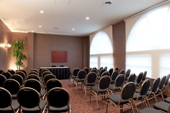Conference room at Crystal Lodge.