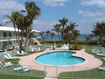 Outdoor pool at Wright by the Sea Hotel.
