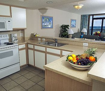 Guest kitchen at Compass Cove Resort.