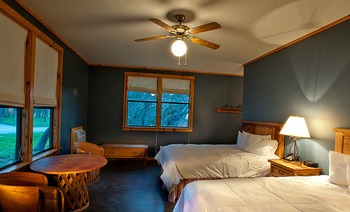 Guest room at Canyon of the Eagles.