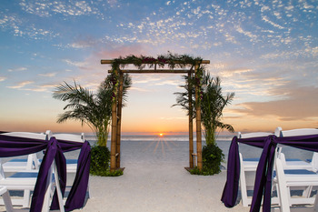 Beach wedding at Sirata Beach Resort.