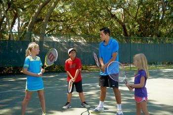 Tennis court at The Villas of Amelia Island Plantation.
