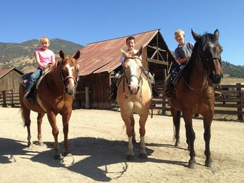 Horseback riding at Rankin Ranch.