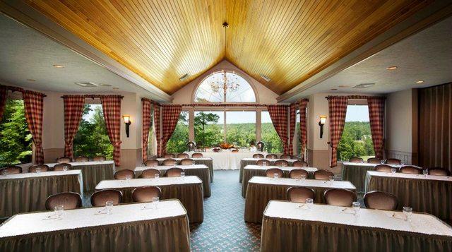 Conference room at Woodloch Resort.